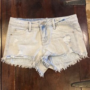 Tractor jean shorts